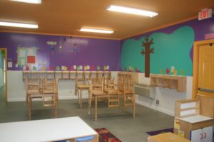Kid's Educational Center - classroom table and chairs