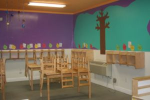 Kid's Educational Center - classroom tables and chairs