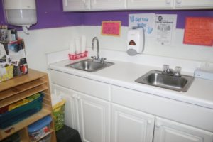 Kid's Educational Center - Sink in classroom