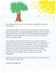 Kids Educational Centers Testimonial